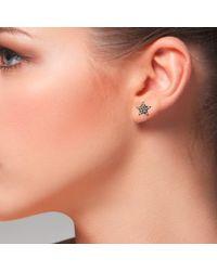 LÁTELITA London   Multicolor Diamond Star Stud Earring Rosegold   Lyst