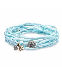 Platadepalo | Trend Blue Silk Bracelet | Lyst