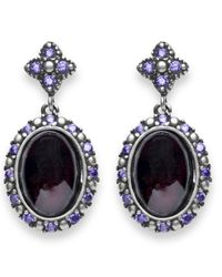 Platadepalo - Multicolor Classic Silver Garnet And Zircon Earrings - Lyst