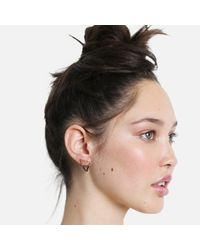 Tada & Toy - Metallic Shark Tooth Earring Rose Gold And Silver - Lyst