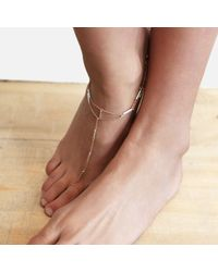Tada & Toy - Metallic Sky Atlas Anklet Rose Gold - Lyst