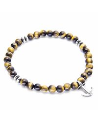 Anchor & Crew - Brown Tigers Eye Starboard Silver & Stone Bracelet for Men - Lyst