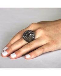 Sonal Bhaskaran - Black Shikhara Ruthenium Dome Ring Spinel - Lyst