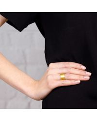 Maya Magal | Metallic Brushed Band Ring Gold | Lyst
