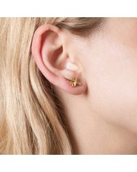 Leivan Kash - Metallic Dagger Mini Stud Earrings Gold - Lyst