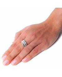 Leivan Kash - Metallic Feather Open Ring Silver - Lyst