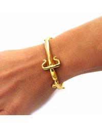 Leivan Kash - Metallic Dagger Cuff Gold - Lyst