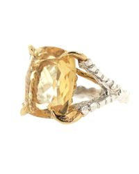 Tessa Metcalfe - Metallic Antique Citrine Claws Of Engagement - Lyst