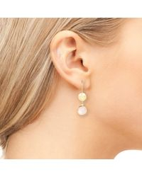 Latelita London - Metallic Circle & Hammer Earring Rose Quartz Silver - Lyst