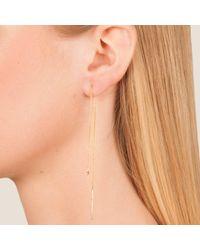 Dutch Basics - Metallic Cylinder Drop Chain Earrings Rose Gold - Lyst