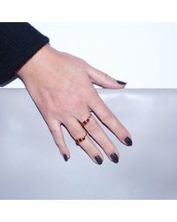 GFG Jewellery - Metallic Lara Garnet Triple Ring - Lyst