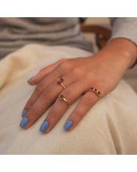 GFG Jewellery - Metallic Lara Double Twist Garnet Ring - Lyst