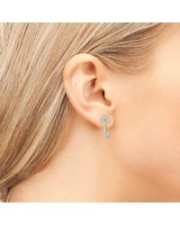 Latelita London - Metallic Key Earring Silver - Lyst