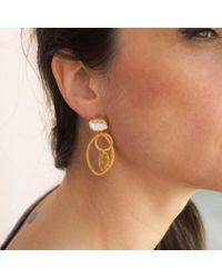 GFG Jewellery - Metallic Eve Earrings - Lyst