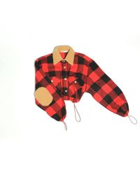 Romeo Hunte New York Lucy Crop Flannel Red
