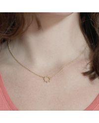 Agnes De Verneuil - Metallic Gold Choker Necklace Small Sun - Lyst