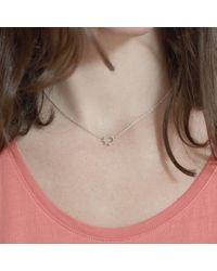 Agnes De Verneuil - Metallic Silver Choker Small Sun Necklace - Lyst