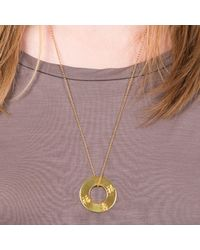 Liwu Jewellery - Metallic Three Lucky Stars Gold Plated Pendant Necklace - Lyst