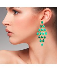 LÁTELITA London - Cascade Earring Green Onyx Gold - Lyst