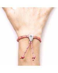 Anchor & Crew - Pink Pembroke Silver & Rope Bracelet - Lyst