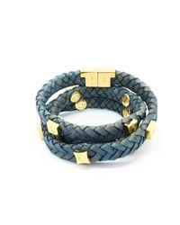 Tissuville - Green Brio Bracelet Jargon Jade Gold - Lyst