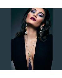 Latelita London - Multicolor Tassel Ball Necklace Amethyst - Lyst