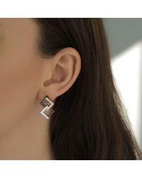 Helen Rankin - Metallic Geom Balance Oxidised Silver Earrings - Lyst