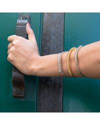 Dutch Basics - Metallic Silver Spiral Cuff Bracelet - Lyst