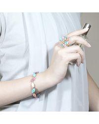 Cielle | Multicolor Pastel Spring Leaves Statement Bracelet | Lyst