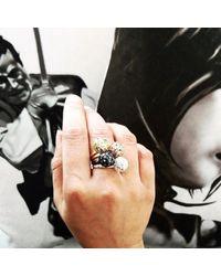 Sonal Bhaskaran - Metallic Svar Silver Sphere Ring Clear Cz - Lyst