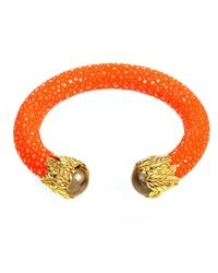 Latelita London - Multicolor Stingray Bangle Orange With Citrine - Lyst
