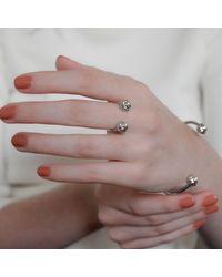MARIE JUNETM Jewelry - Metallic Monkey Paw Knot Silver Ring - Lyst