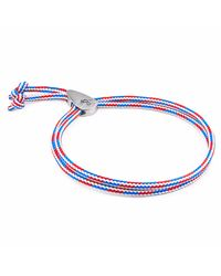 Anchor & Crew - Multicolor Project-rwb Red White & Blue Pembroke Silver And Rope Bracelet for Men - Lyst