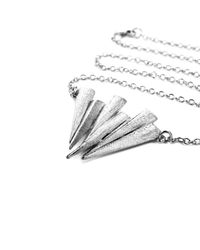 Ona Chan Jewelry - Metallic Six Daggar Necklace Silver - Lyst