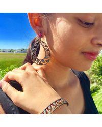 Meghna Jewels - Multicolor Interlocking Claw Earrings Black & Champagne Diamonds - Lyst