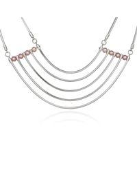 Cara Tonkin - Metallic Orbit Cosmos Necklace Silver - Lyst