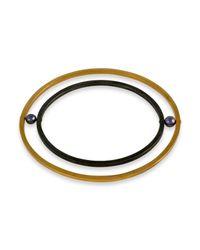 Cara Tonkin | Metallic Orbit Rotate Bangle Gold | Lyst