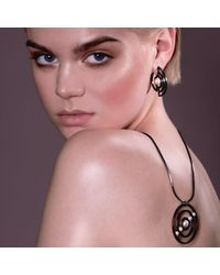 Cara Tonkin - Black Orbit Solaris Earrings Oxidised Silver - Lyst