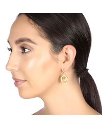 Carousel Jewels - Metallic Engraved Gold & Oval Lemon Topaz Earrings - Lyst