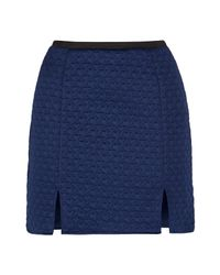 Rachel Mcmillan | Blue Navy Split Skirt | Lyst