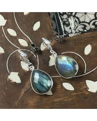 Brave Lotus - Metallic Silver In The Mist Earrings - Lyst