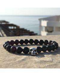 Latelita London | Skull Bracelet Sterling Silver Black Onyx | Lyst
