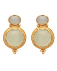 Carousel Jewels | Metallic Gold & Chalcedony Curio Earrings | Lyst