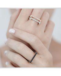 Myriamsos | Black Square Eternity Ring | Lyst