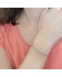 Agnes De Verneuil - Metallic Silver Three-band Cuff Bracelet Line & Pearls - Lyst