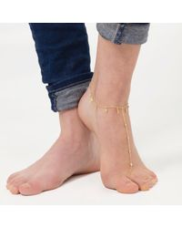 Tada & Toy - Metallic Oceanic Anklet Gold - Lyst