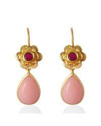 Emma Chapman Jewels | Gypsy Rose Pink Opal Earrings | Lyst