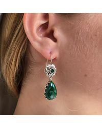 Emma Chapman Jewels - Green Gypsy Rose Malachite Earrings - Lyst