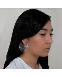MARIE JUNETM Jewelry - Metallic Full Ripples Earrings Clear - Lyst