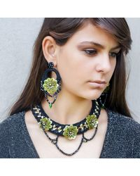 Ricardo Rodriguez Design | Black Flora Necklace | Lyst